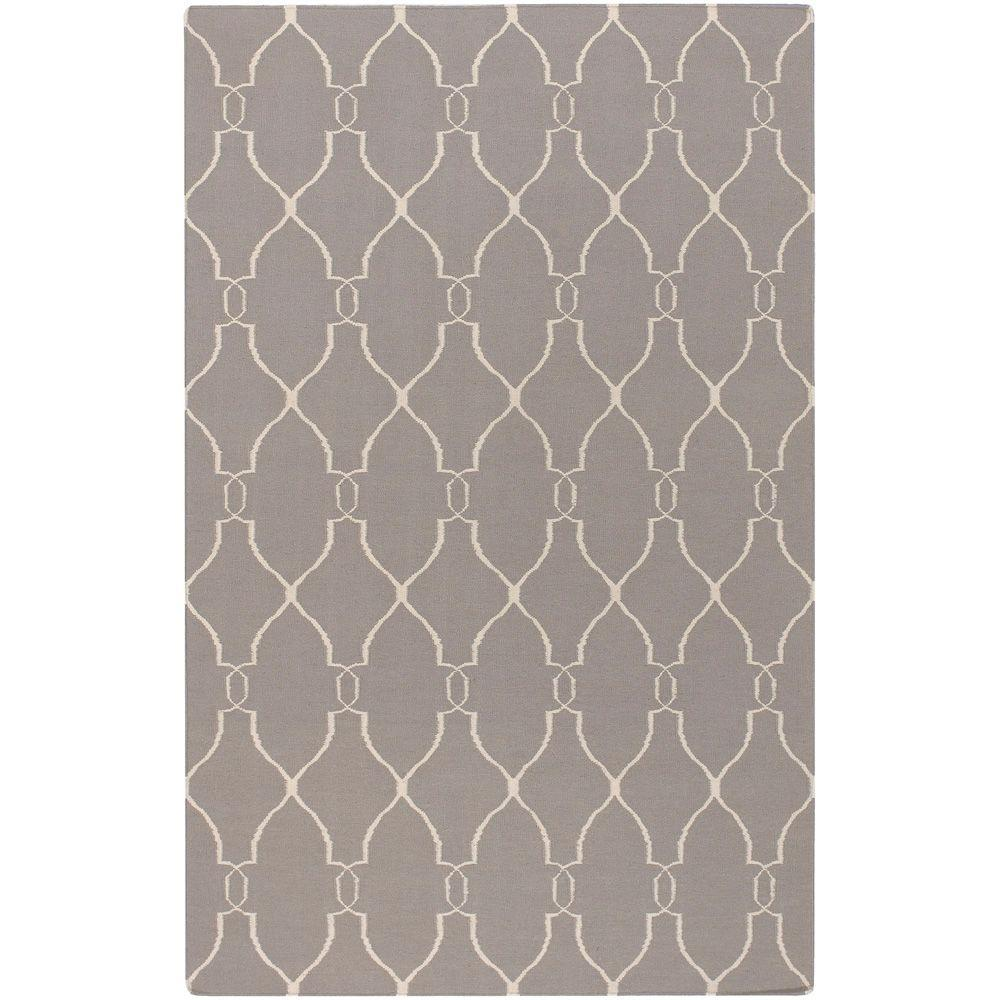 Surya Jill Rosenwald Gray 2 ft. x 3 ft. Flatweave Accent Rug