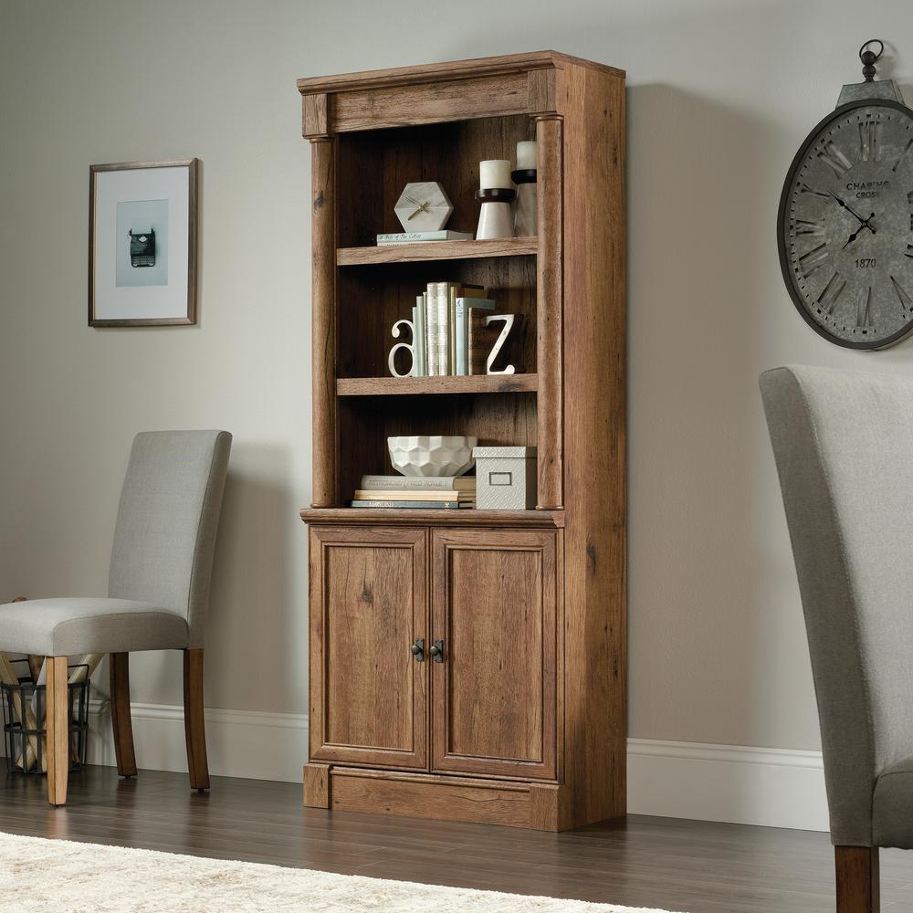Palladia Collection Vintage Oak 2-Door Bookcase