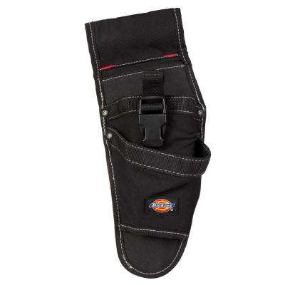 2-Pocket Drill Holster / Tool Belt Pouch in Black