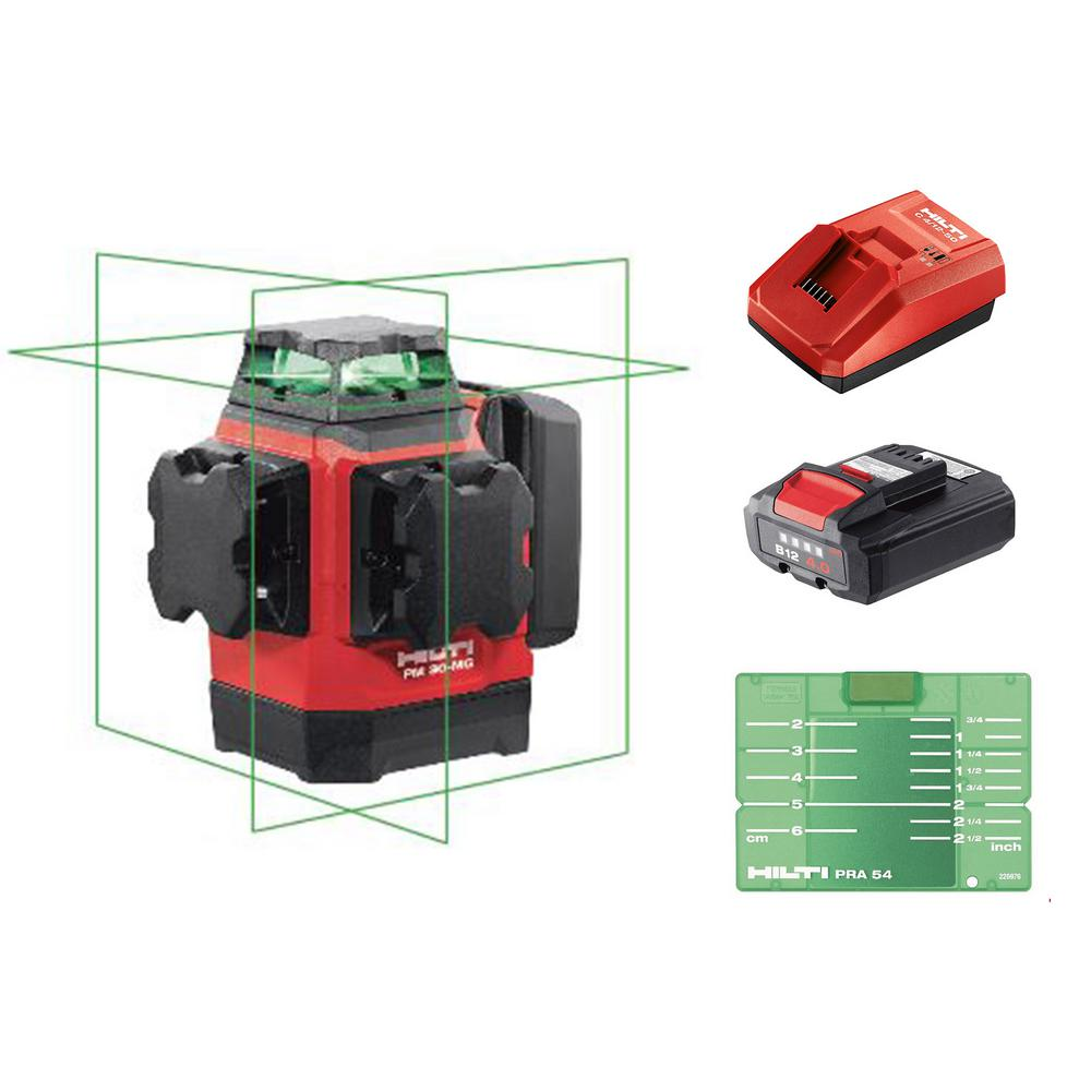 Hilti PM 30-MG 130 ft. Multi-Green Line Laser Kit (Battery and Charger Included)