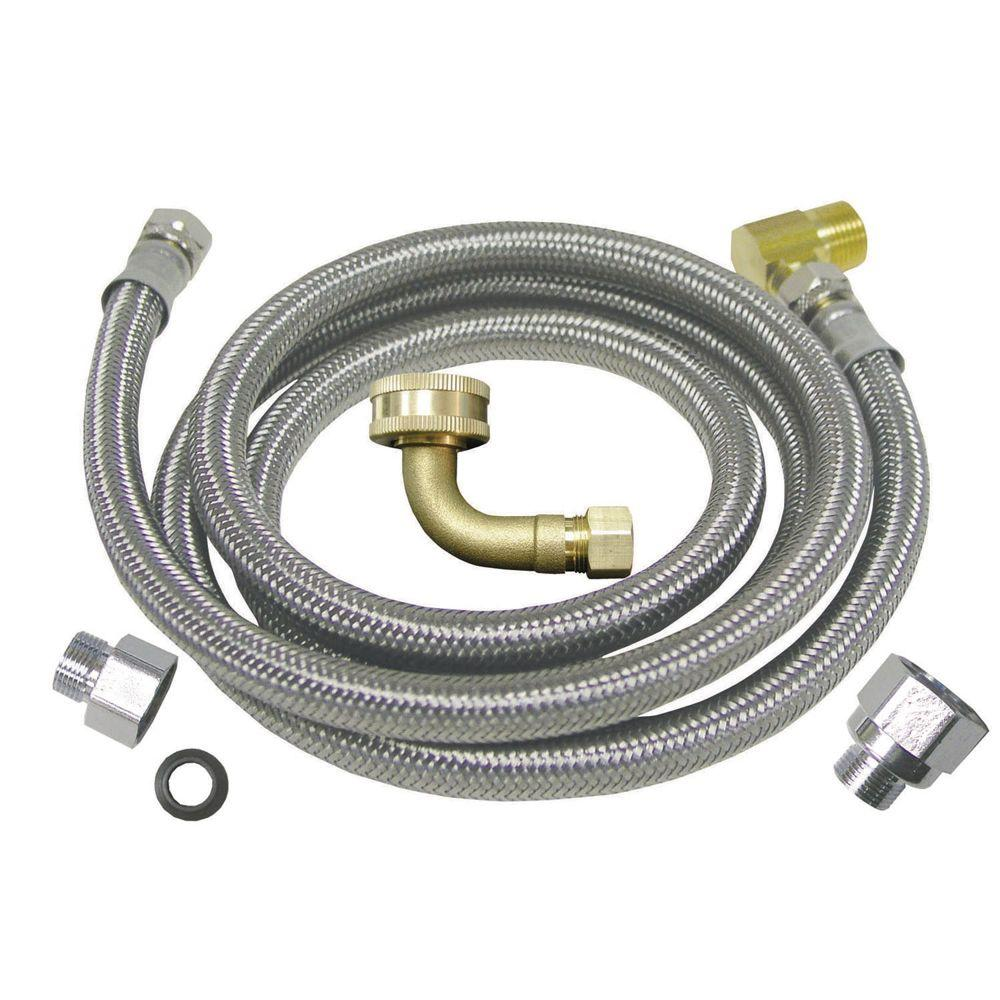 Watts 3/8 in. x 3/8 in. x 60 in. Stainless Steel Universal Dishwasher Supply Line