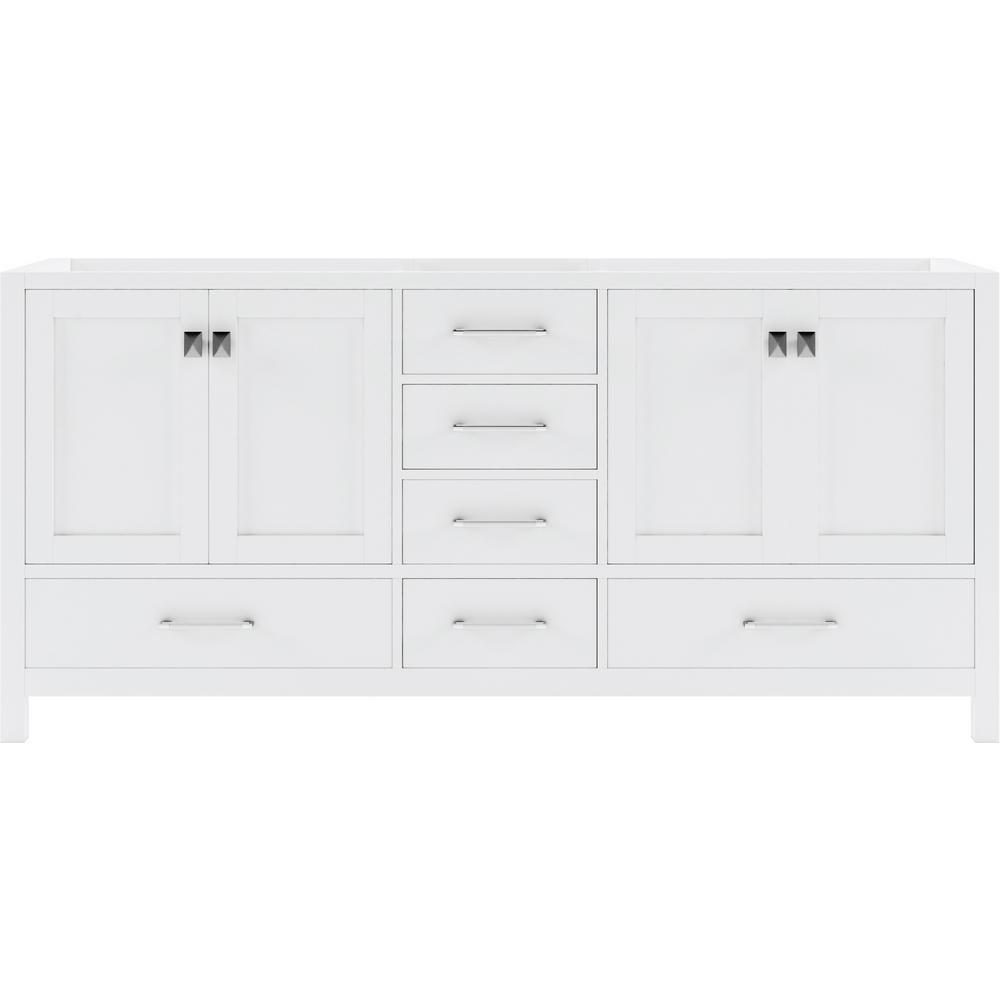 Caroline Avenue 72 in. W Bath Vanity Cabinet Only in White