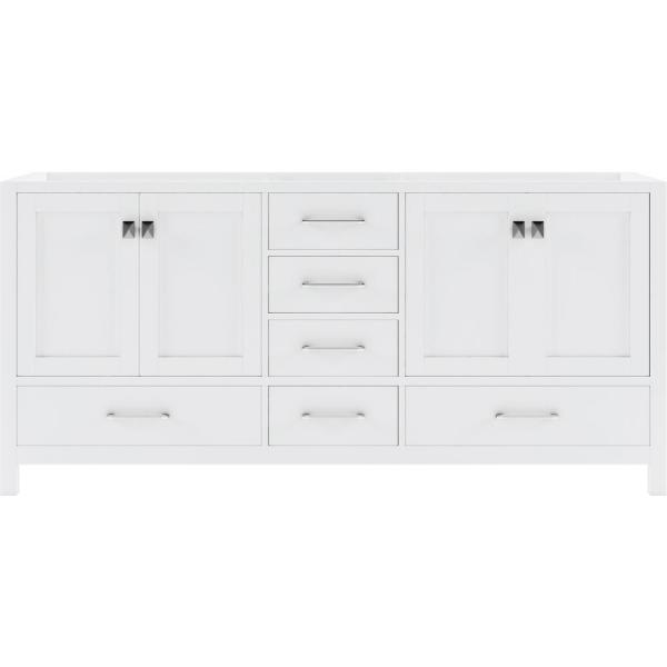 Caroline Avenue 72 in. W Bath Vanity Cabinet Only in White