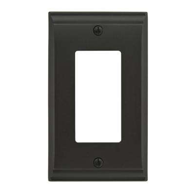 Candler 1-Rocker Wall Plate, Black Bronze