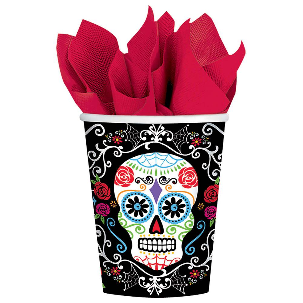 8 in. Day of the Dead 9 oz. Paper Cups (18-Count,