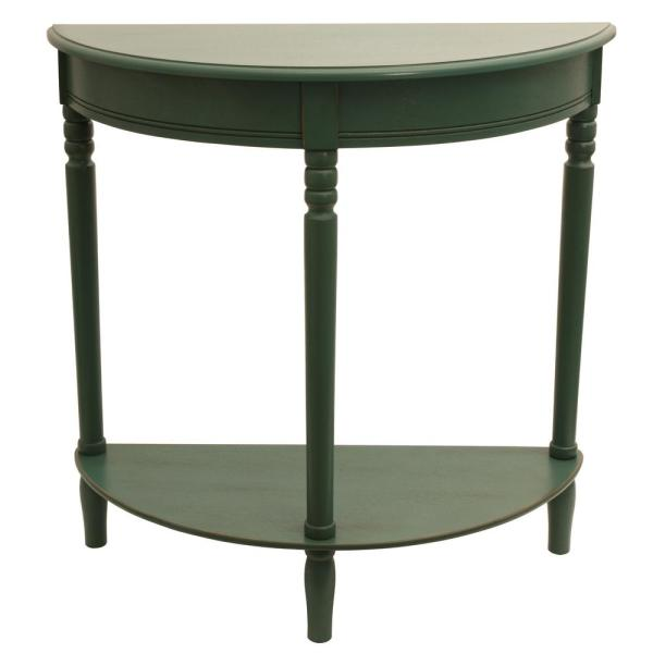 Decor Therapy Simplicity Antique Teal Half Round Console Table FR1800