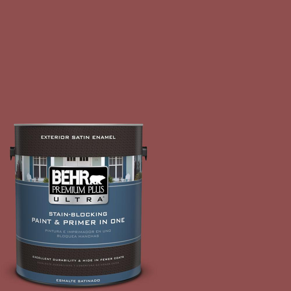 BEHR Premium Plus Ultra 1-gal. #S140-6 Moroccan Ruby Satin Enamel Exterior Paint