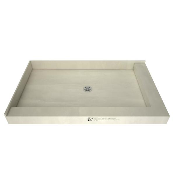 Redi Base 32 in. x 48 in. Double Threshold Shower Base with Center Drain  and Polished Chrome Drain Plate