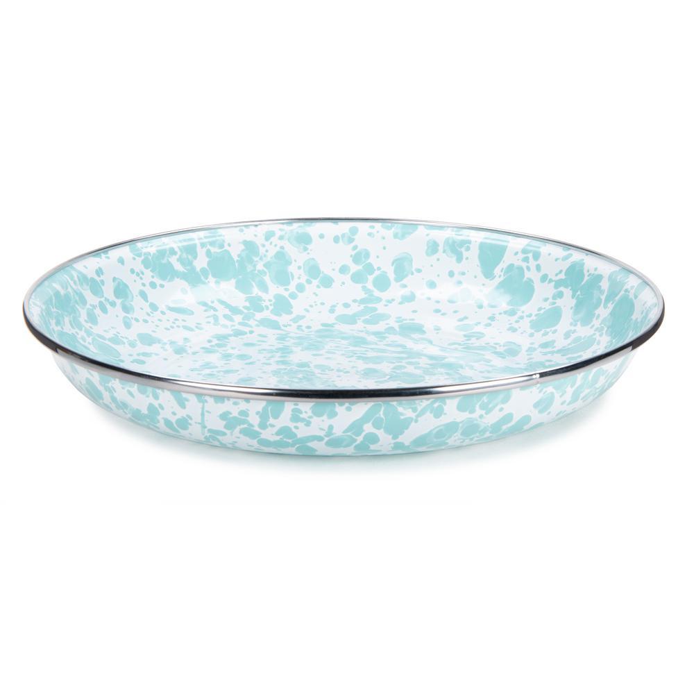 10 in. Sea Glass Enamelware Pasta Plate Set of 4