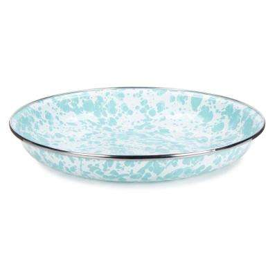 10 in. Sea Glass Enamelware Pasta Plate Set of 4