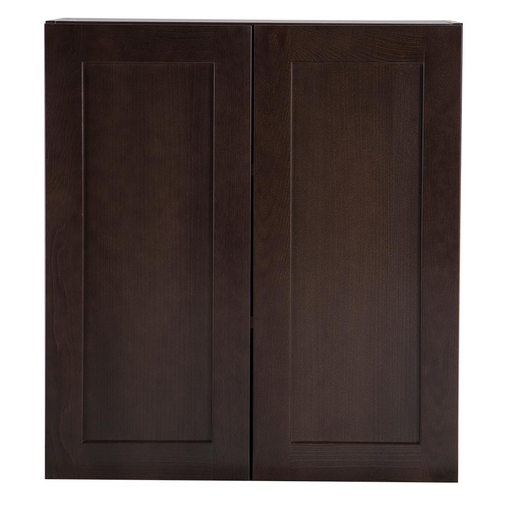 Cambridge Pantry Cabinets In Dusk: Hampton Bay Cambridge Assembled 27x30x12 In. Wall Cabinet