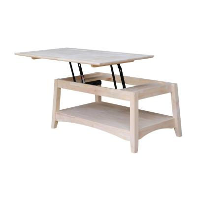 Bombay 40 in. Unfinished Medium Rectangle Wood Coffee Table