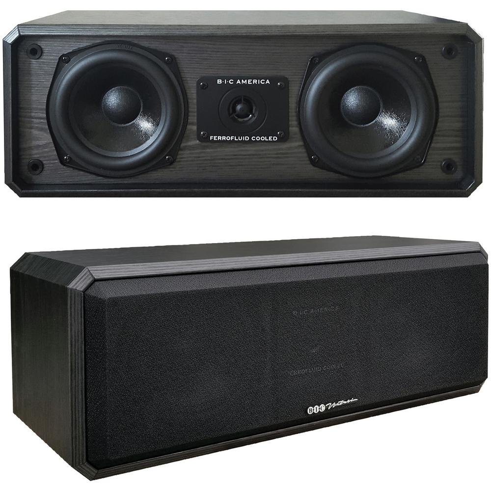 Bic America 5 25 In Center Channel Speaker Dv52clrb The Home Depot
