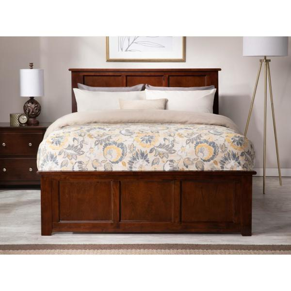Atlantic Furniture Madison Full Platform Bed With Matching Foot Board With Full Size Urban Trundle Bed In Walnut Ar8636054 The Home Depot