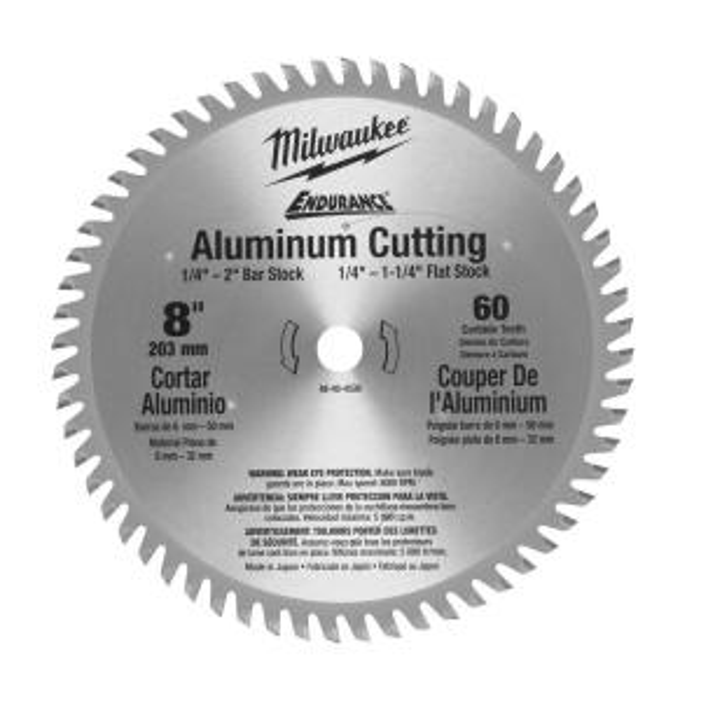 Milwaukee 8 inch x 60 Tooth Aluminum Metal Cut Circular Saw Blade by Milwaukee