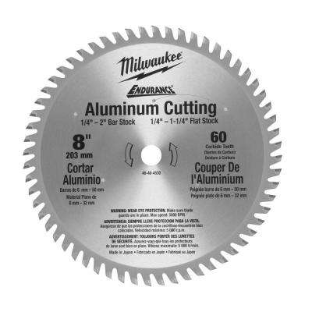 8 in. x 60 Tooth Aluminum Metal Cut Circular Saw Blade
