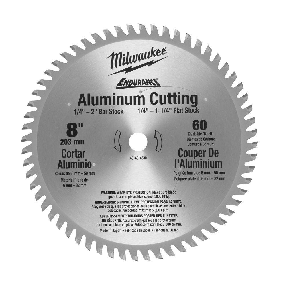 8 in. x 60 Carbide Teeth Aluminum Metal Cutting Circular Saw Blade