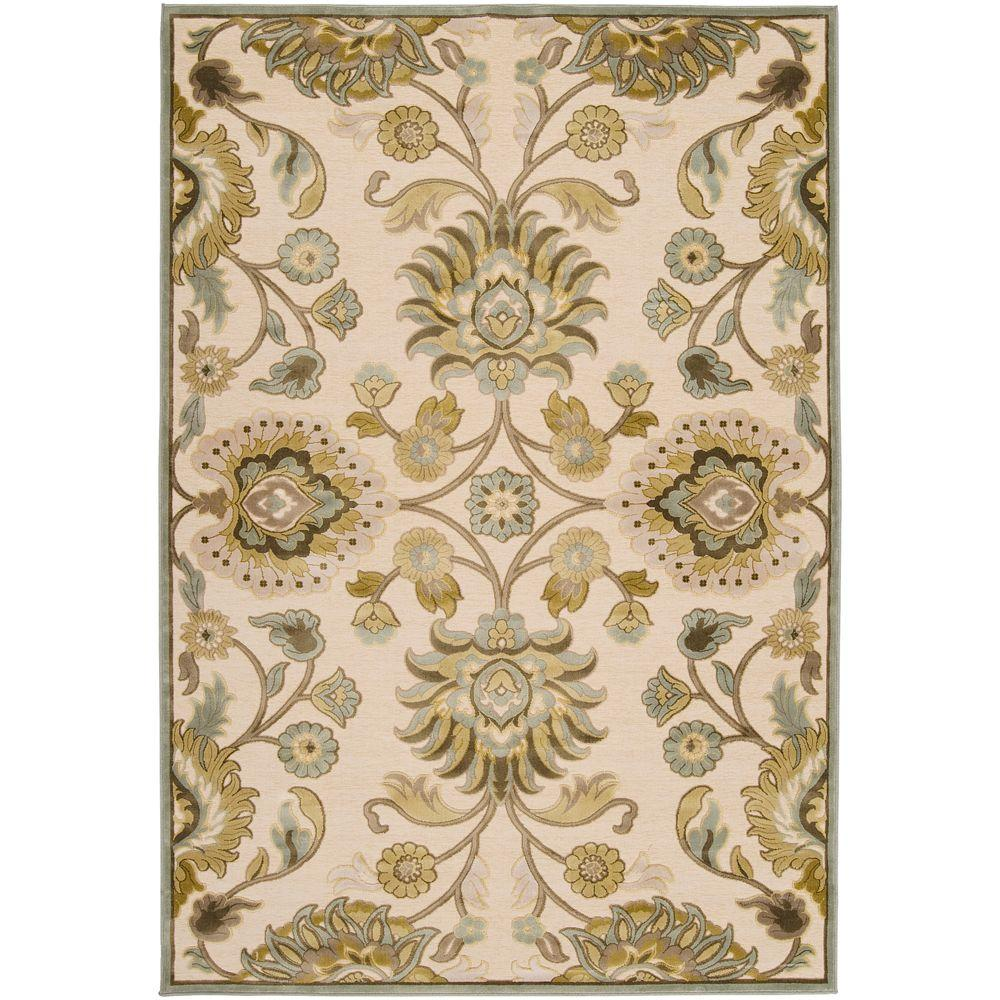 Artistic Weavers Lauren Ivory Viscose and Chenille 3 ft. x 8 ft. Runner Rug