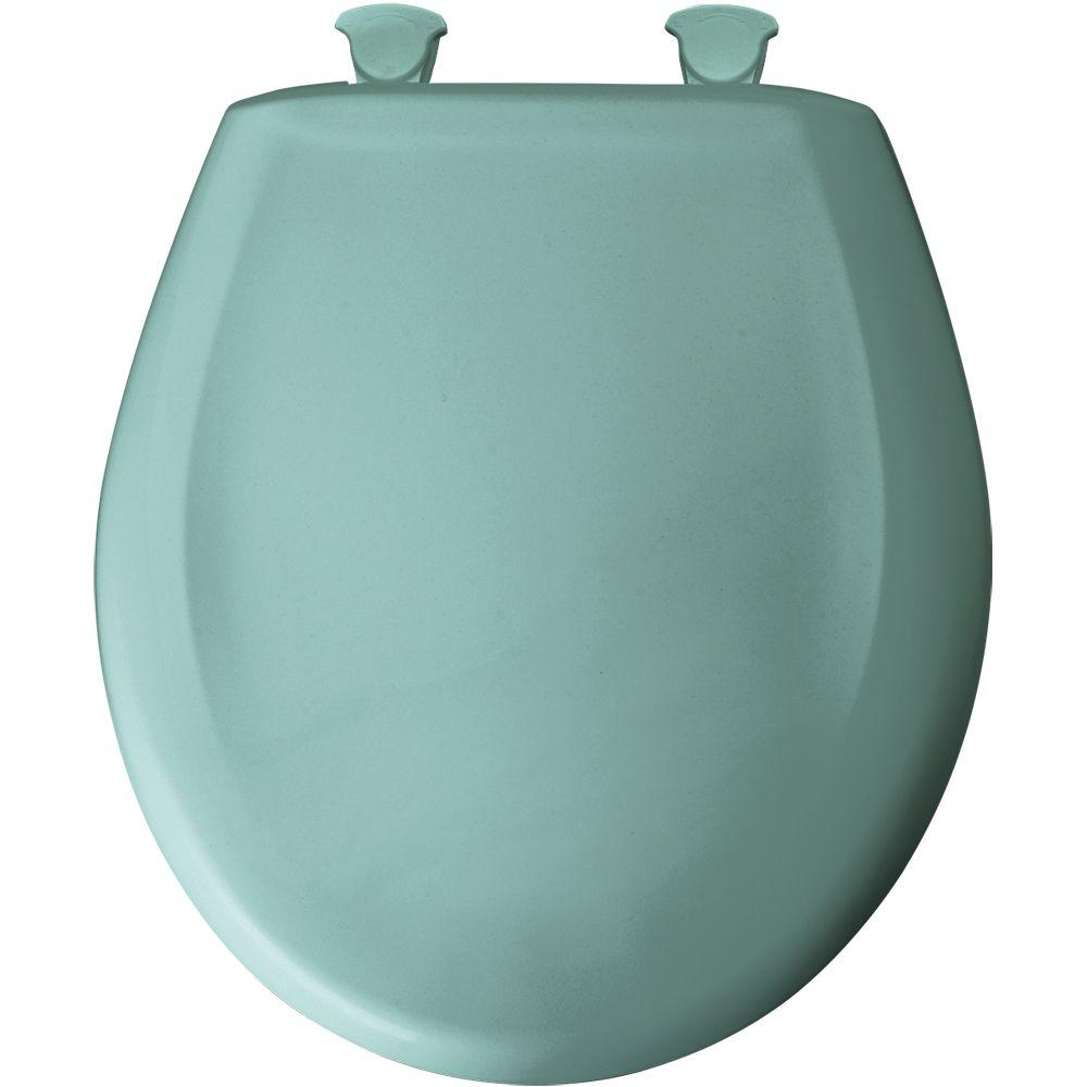 Round Closed Front Toilet Seat in Spruce Green
