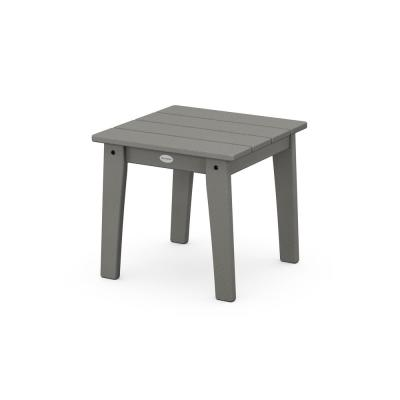 Grant Park Slate Grey Plastic Outdoor Side Table