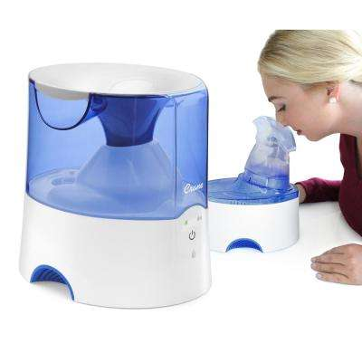 Classic 2-in-1 Warm Mist Humidifier and Steam Inhaler - Blue and White