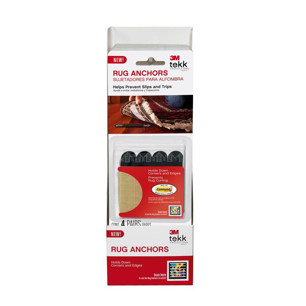 Furniture Grippers 3M Rug Anchors (4-Pack)-SRA-4 - The Home Depot