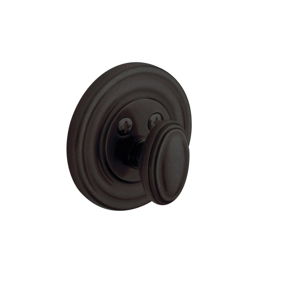 Traditional Single Cylinder Distressed Oil Rubbed Bronze Patio Deadbolt