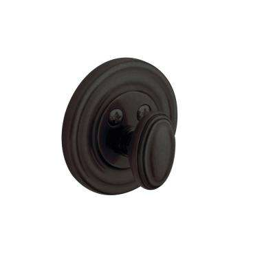 Traditional Oil Rubbed Bronze Single Cylinder Distressed Patio Deadbolt