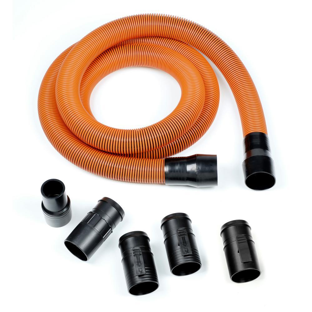 1-7/8 in. x 10 ft. Pro-Grade Locking Vacuum Hose Kit for RIDGID Wet/Dry Shop Vacuums