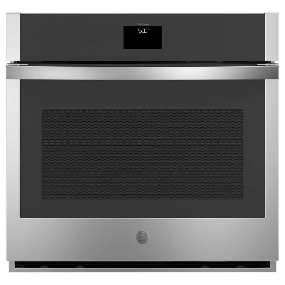 30 in. 5.0 cu. ft. Single Electric Wall Oven with Self-Cleaning Convection in Stainless Steel