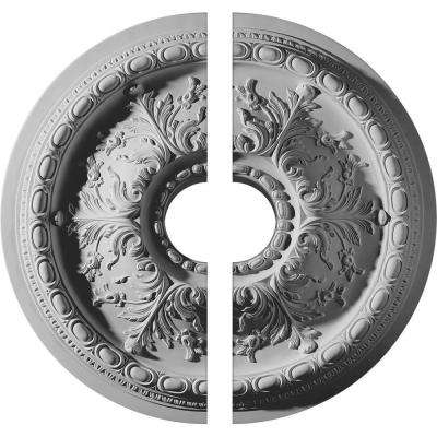 28 in. O.D. x 6 in. I.D. x 2-3/4 in. P Stockport Ceiling Medallion (2-Piece)