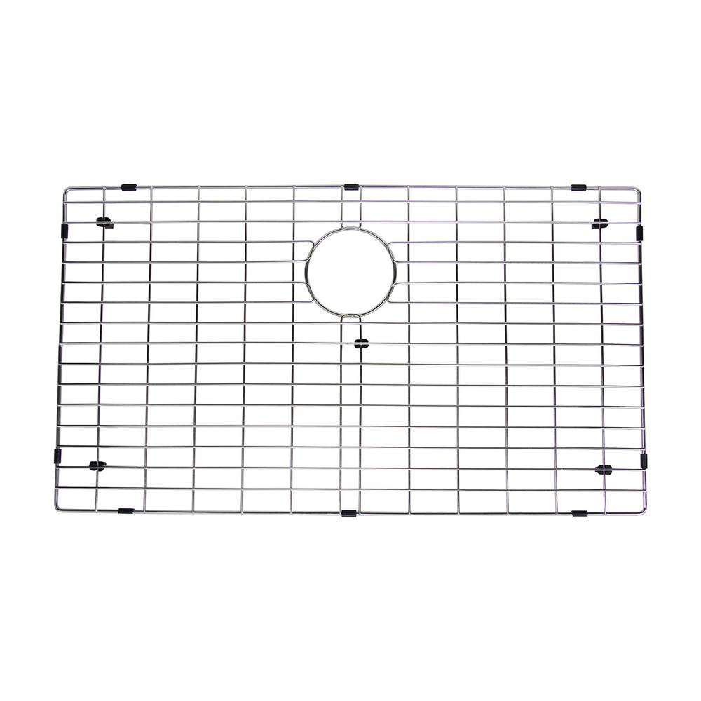 16.8 in. x 29.8 in. Kitchen Sink Bottom Grid in Stainless