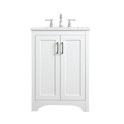 Timeless Home 24 In W X 19 In D X 34 In H Single Bathroom Vanity In White With Calacatta Quartz Th34024white The Home Depot