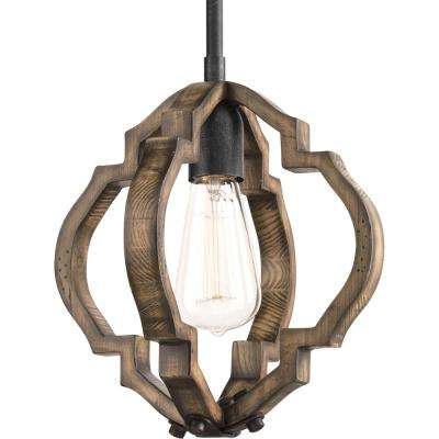 Spicewood 1-Light Black Gilded Iron Mini Pendant