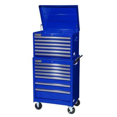 Tech Series 27 in. 13-Drawer Tool Chest and Cabinet Combo in Blue