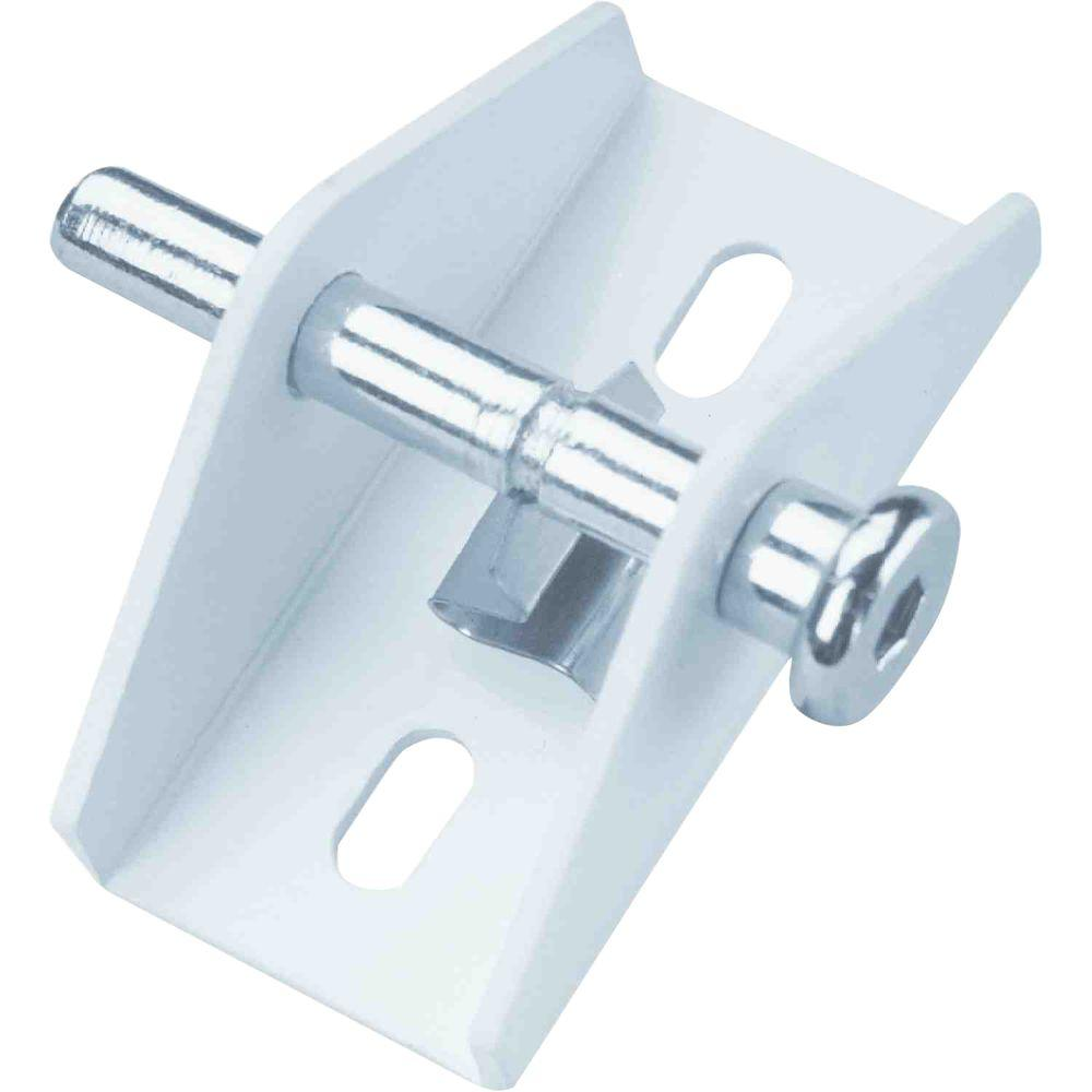 Prime line white push pull sliding door lock u 9855 the for Home depot sliding door lock