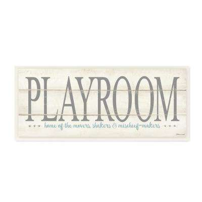 """7 in. x 17 in. """"Playroom Home Of Mischief Makers"""" by Stephanie Workman Marrott Printed Wood Wall Art"""