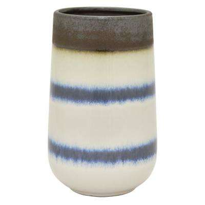 10 in. White Ceramic Vase