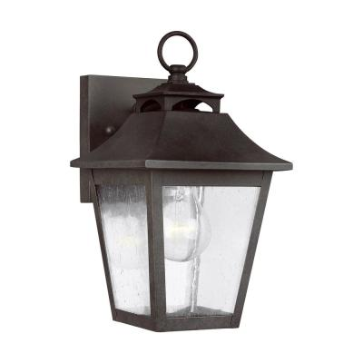 Feiss Galena Mini 10 in. 1-Light Sable Outdoor Wall Mount Lantern