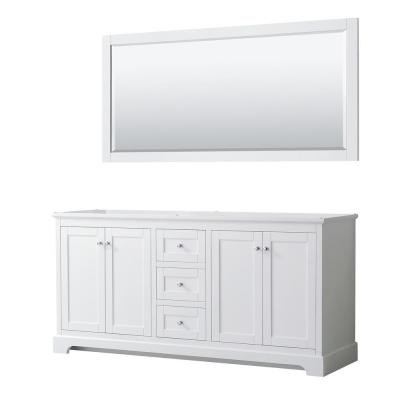 Avery 71 in. W x 21.75 in. D Bathroom Vanity Cabinet Only with Mirror in White