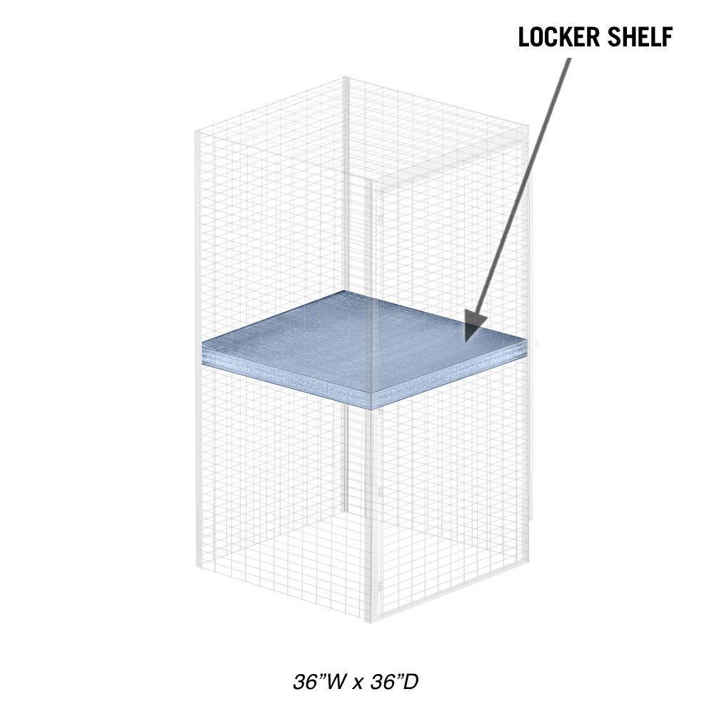 Storage Locker Option 36 in. W x 36 in. D x 0.5 in. H Wire Shelf Bulk Storage Locker with Shelf Option in Aluminum