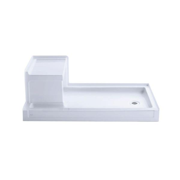 Tresham 60 in. x 32 in. Single Threshold Shower Base with Right Drain in White