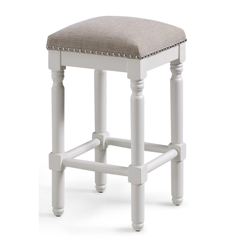 American Woodcrafters Andover 26 In White Backless Counter Stool B2