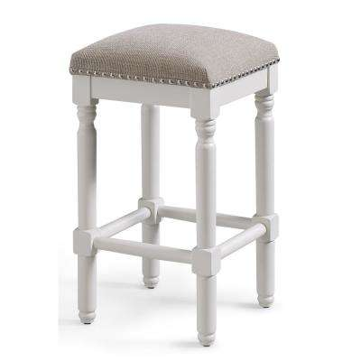 Andover 26 in. White Backless Counter Stool