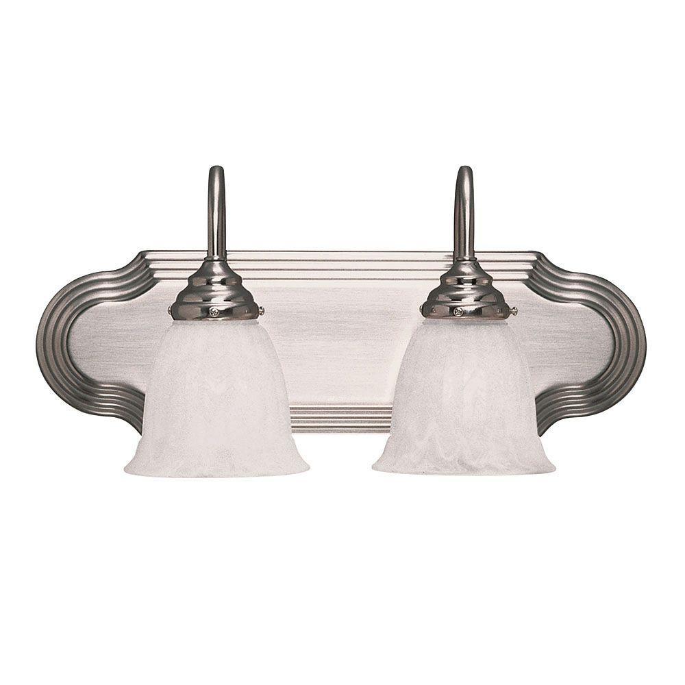 2-Light Satin Nickel Bath Bar Light