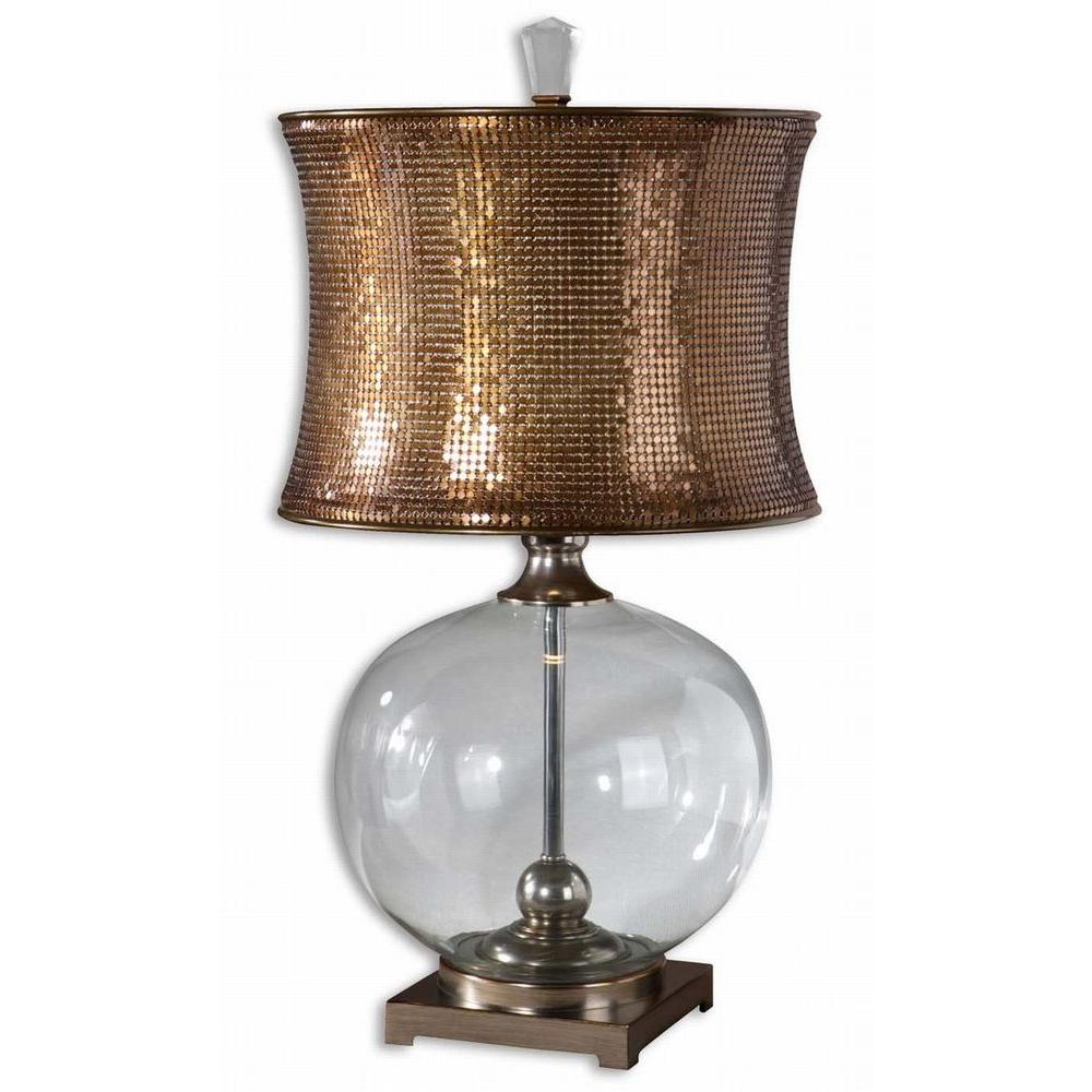 Global Direct 31 in. Marcel Clear Glass Table Lamp