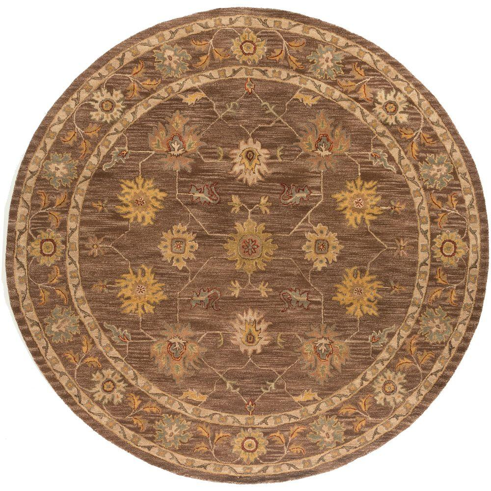 Artistic Weavers Middleton Lily Brown 6 ft. x 6 ft. Round...