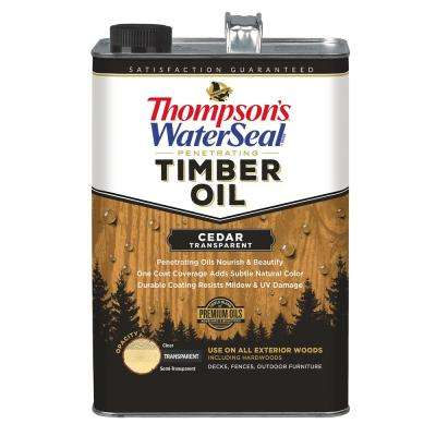 1 gal. Transparent Cedar Penetrating Timber Oil Exterior (4-Pack)