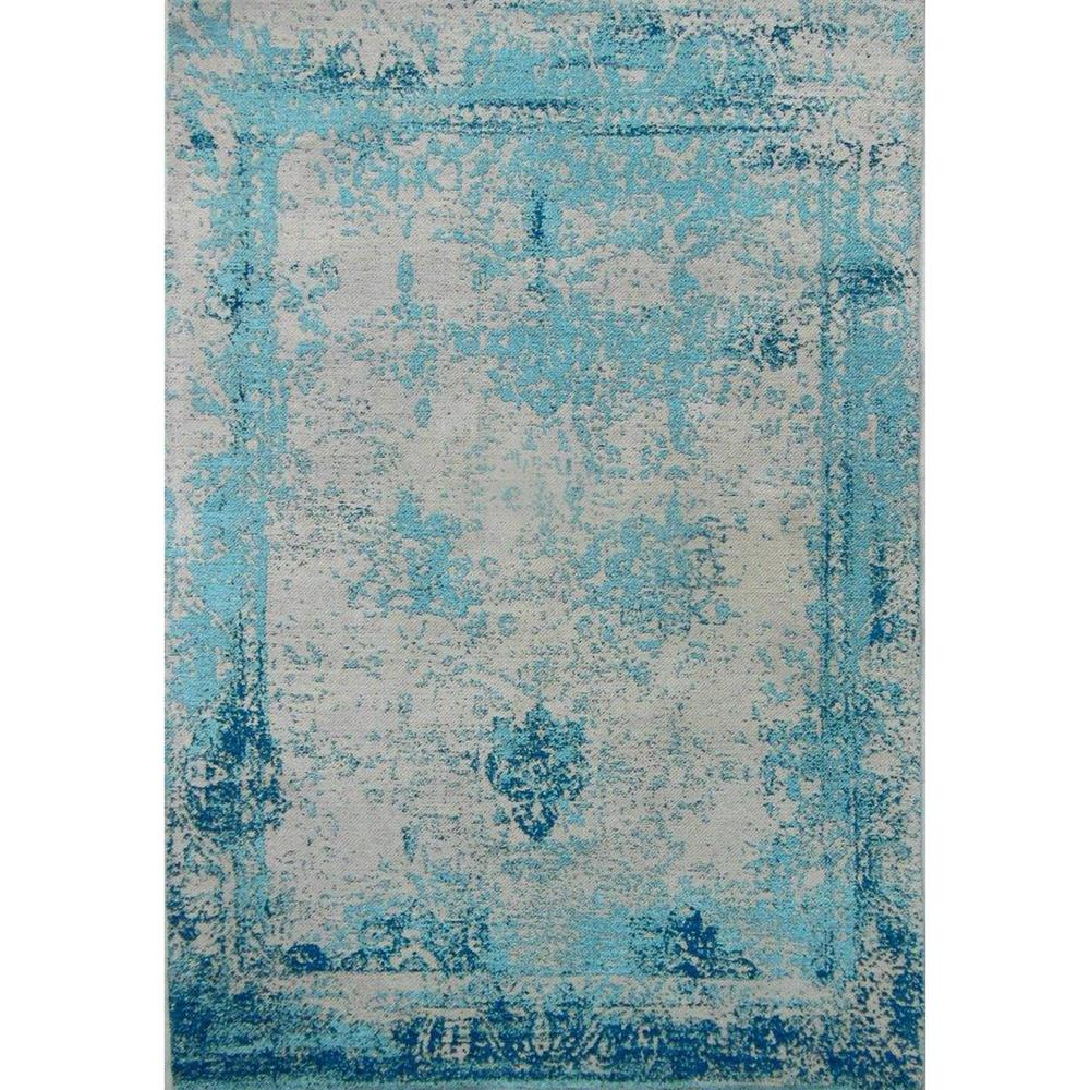 Good AmeriHome Teal 5 Ft. X 8 Ft. Hand Woven Vintage Style Area Rug