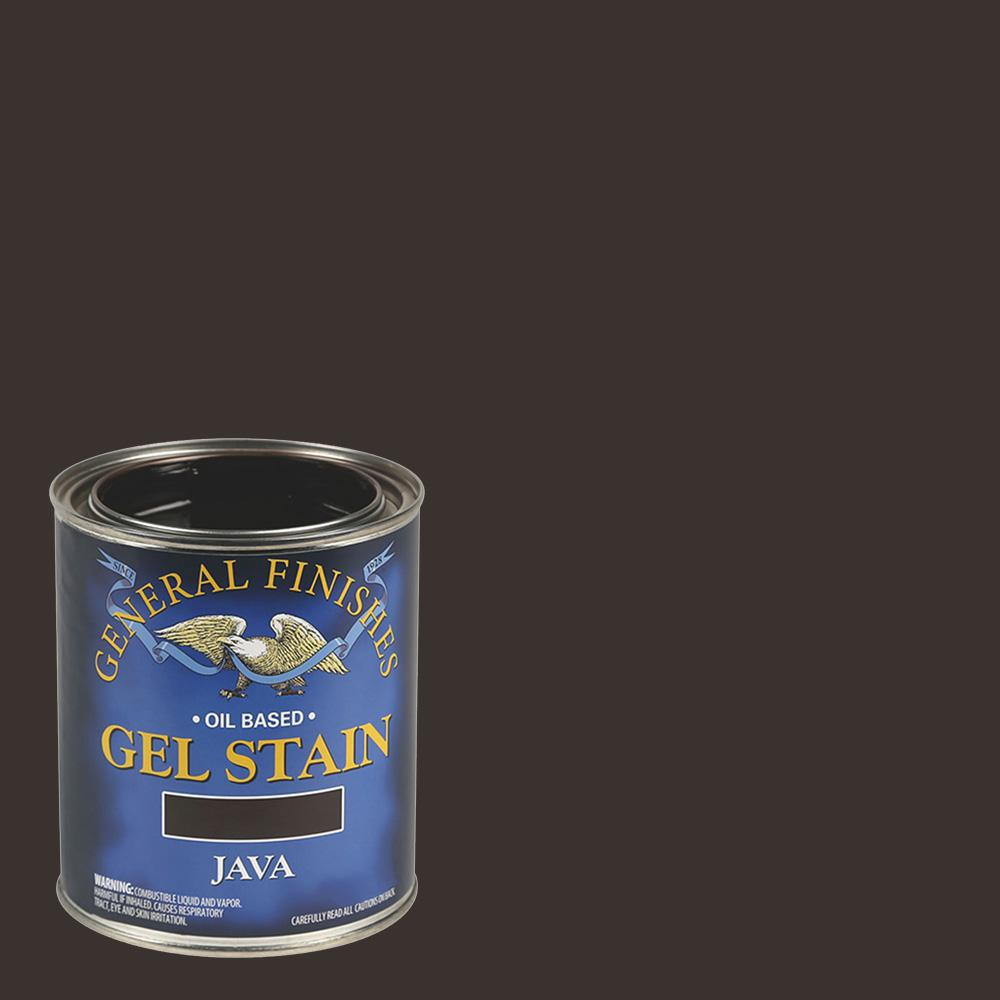 General Finishes 1 Qt Java Oil Based Interior Wood Gel Stain Gf Jq The Home Depot